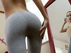 Amai Liu, Bedroom, Boobless, Brunette, Cute, Fmm, Group Sex, Homemade, Jail, Long Hair,