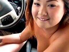 Babe, Big Natural Tits, Blowjob, Car, Couple, Dick, Ethnic, Felching, Gorgeous, Natural Tits,