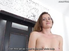 Amateur, Babe, Bold, Boobless, Brunette, Casting, Cumshot, Hardcore, HD, Jeans,