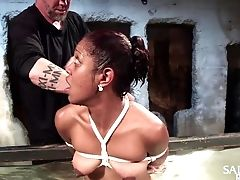 BDSM, Black, Bondage, Boobless, Fetish, Fingering, Squirting, Torture,