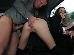 Alexis Crystal, Car, Couple, Fucking, Juicy, Long Hair, Outdoor, Tight Pussy,
