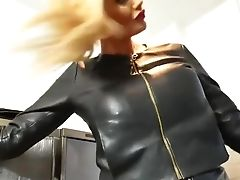 Big Tits, Blonde, Fetish, Leather, MILF, Solo, Teasing,