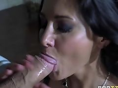 Ava Addams, Big Tits, Blowjob, Brunette, Facial, French, HD, MILF, POV, Threesome,
