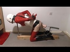 BDSM, Bondage, Crossdressing, Dildo, Fucking, Fucking Machine, HD, Huge Dildo, Latex, Riding,