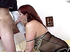 Ass, Bedroom, Big Cock, Big Tits, Blowjob, Curly, From Behind, Granny, HD, High Heels,