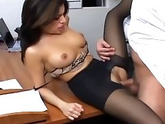 Big Tits, Cute, Lingerie, Office, Secretary, Sexy, Stockings,