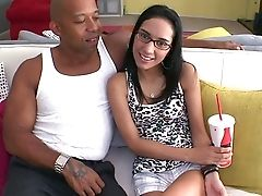 Audition, Babe, Brunette, Couch, Glasses, Hardcore, Interracial, Oral Sex, Reality, Skinny,
