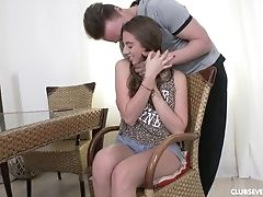 Couple, Cum In Mouth, Cum Swallowing, Cumshot, Desk, Friend, Long Hair, Russian, Teen,