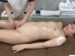 Boobless, Clinic, Fingering, Japanese, Jav, Lesbian, Massage, Oiled, Uniform,