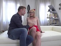 Blonde, Boobless, Couple, Hardcore, Jerking, Long Hair, MILF, Pussy, Sex Toys,