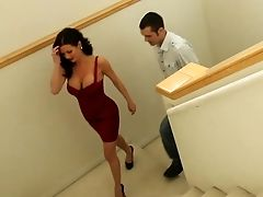 Bobcat, Brunette, Cougar, Dress, MILF, Pornstar, Story, Veronica Avluv, White,