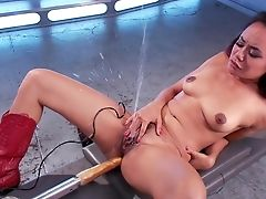 American, Annie Cruz, Boots, Cum, Female Ejaculation, Legs, Masturbation, MILF, Moaning, Pussy,