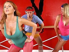 Big Tits, Blonde, Blowjob, Brunette, Diamond Foxxx, Dick, Gangbang, Genna Eve, Group Sex, Janet Mason,
