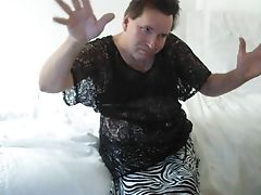 Hairy, Miniskirt, Panties, Tranny,