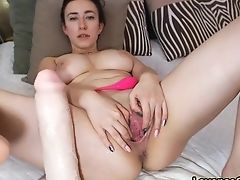 Big Tits, Clamp, Dildo, Girlfriend, Hardcore, Horny, Masturbation, Model, Natural Tits, Pussy,