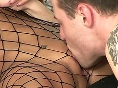 Couple, Fishnet, Jail, Long Hair, MILF, Pornstar, Uniform,