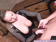 Amateur, Bareback, Blonde, Blowjob, Casting, Couple, Cum In Mouth, Cumshot, Fishnet, German,