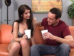 Ass, Babe, Big Tits, Blowjob, Brunette, Couple, Cute, Dick, Felching, Fingering,