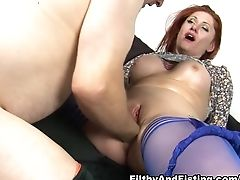 Big Ass, Big Tits, Fisting, Lingerie, Mature, Redhead, Stockings, Teasing,
