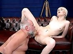 Blonde, Blowjob, Boobless, Couch, Cum On Ass, Dick, From Behind, HD, Kissing, Old,