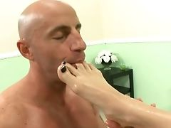 Blonde, Blowjob, Bold, Feet, Foot Fetish, Footjob, Handjob, Jasmine Jolie, Panties, Sexy,