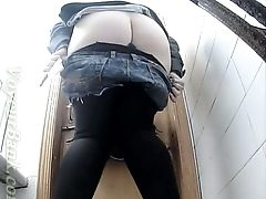 Babe, Boots, Pissing, Teen, Toilet, Voyeur, White,