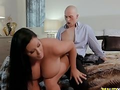 Big Tits, Blowjob, Couple, Cowgirl, Doggystyle, Fake Tits, Handjob, Hardcore, Long Hair, MILF,