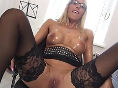 Big Tits, Blonde, German, Mature, Nerd, Office, Secretary,