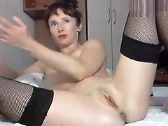 Amateur, Anal Sex, Ass, Dildo, Mature, Russian, Sex Toys, Stockings, Webcam,