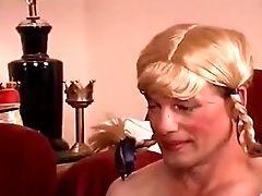 Blonde, Femdom, Sissy, Strapon,