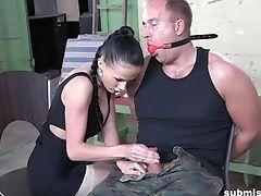 Abuse, Brunette, Couple, Dick, Femdom, Fetish, Handjob, Hardcore, Mistress, Submissive,