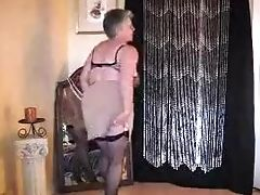 Amateur, Erotisch, Oma, Solo, Kousen, Striptease, Webcam,