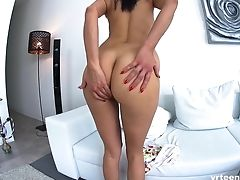Big Tits, Brunette, Fingering, Latina, Long Hair, Masturbation, Model, Natural Tits, Pussy, Shorts,