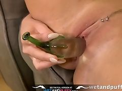 Babe, Boobless, Brunette, Close Up, Dildo, European, Fetish, Fingering, Gaping Hole, Gyno,