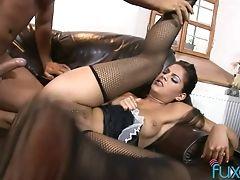 Anal Sex, Babe, Blowjob, Bold, Brunette, Handjob, Hardcore, Maid, Riding, Stockings,