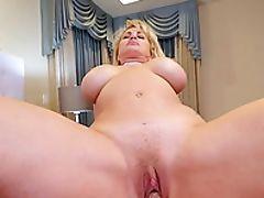 Big Tits, Blonde, Blowjob, Bra, Choking Sex, Couple, Cowgirl, Fake Tits, Handjob, Hardcore,