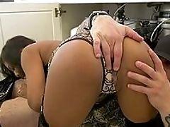 Big Black Cock, Big Tits, Black, Blowjob, Brunette, Close Up, Cute, Dick, Fake Tits, HD,