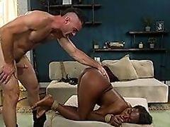 BDSM, Big Cock, Black, Bondage, Brunette, Close Up, Clothed Sex, Doggystyle, Fetish, HD,