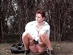 Outdoor, Pissing, Stockings,