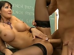 Big Tits, Brunette, Classroom, Dick, Eva Karera, Hardcore, Lingerie, MILF, Office, Riding,