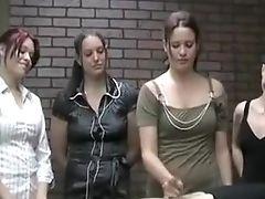 Amateur, Brunette, European, Handjob, Redhead,