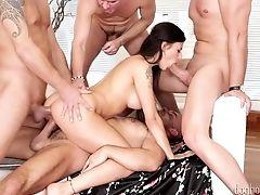 Anal Sex, Babe, Big Tits, Blowjob, Bukkake, Cowgirl, Cumshot, Cute, Double Penetration, Facial,