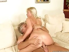 Blonde, Blowjob, Grandpa, Old And Young, Teen, Whore,