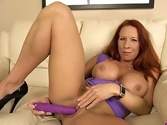 Ass, Big Tits, Clit, Curvy, Faye Rampton, HD, Masturbation, Mature, Panties, Sex Toys,